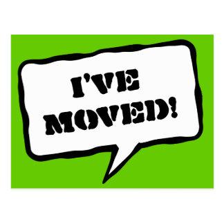 I ve moved moving postcards for new address