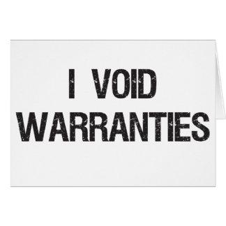 i void warranties greeting card