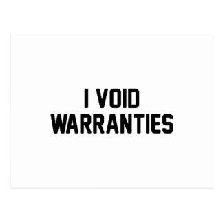 I Void Warranties Postcard