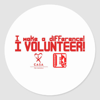 I Volunteer Classic Round Sticker
