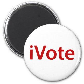 I Vote 6 Cm Round Magnet