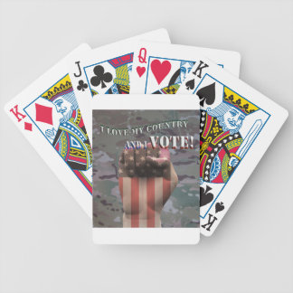 i vote bicycle playing cards