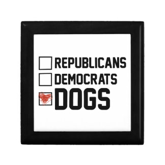 I Vote Dogs Gift Box