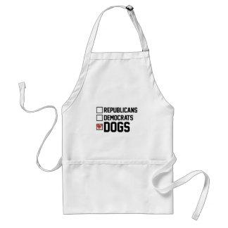 I Vote Dogs Standard Apron