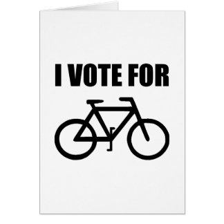 I Vote For Bicycle Card