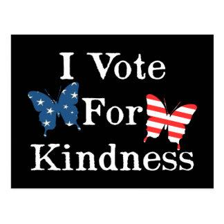 I Vote For Kindness Postcard