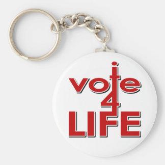 I Vote For Life Key Ring