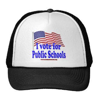 I Vote for Public Schools Mesh Hat