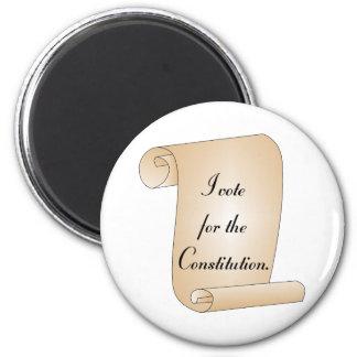 I vote for the Constitution 6 Cm Round Magnet