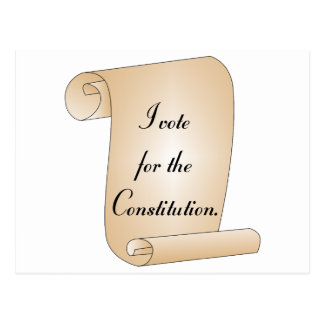 I vote for the Constitution Postcard