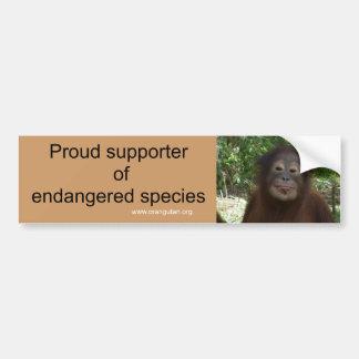 I Vote for Wildlife Conservation Bumper Sticker