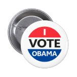 I Vote Obama Button