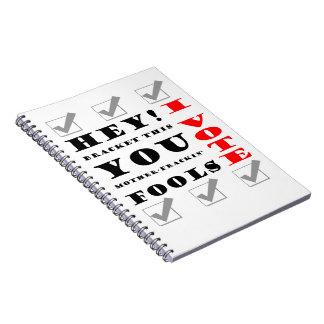I Vote! Spiral Note Book