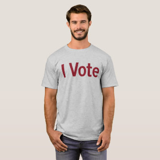 I Vote T-shirt - M/Red Text