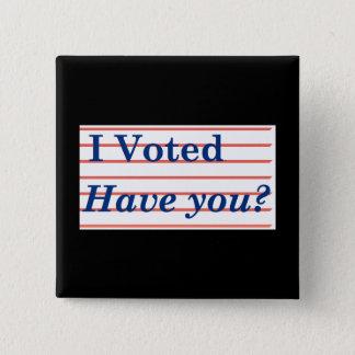 I Voted! 15 Cm Square Badge