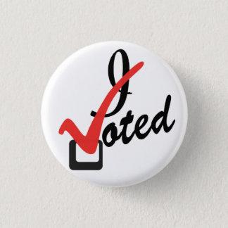I voted 3 cm round badge