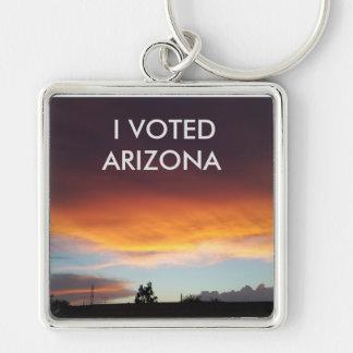 I Voted Arizona Sunset keychain