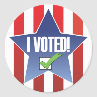 I Voted! Badge-looking Round Sticker