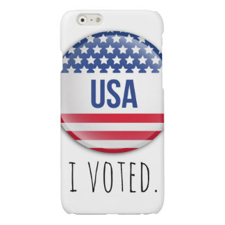 I Voted Campaign Button Design for iPhone