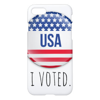 I Voted Campaign Button Design for iPhone iPhone 7 Case