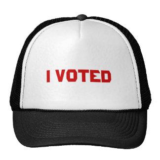 I voted cap