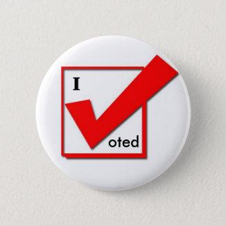 I Voted Check 6 Cm Round Badge