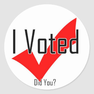 I Voted. Did You? Classic Round Sticker