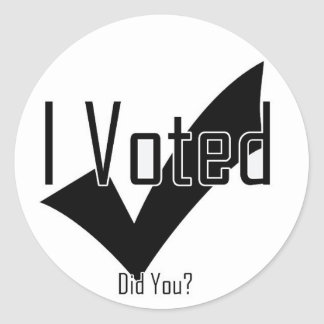 I Voted Did You Round Stickers