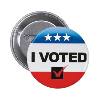 I Voted Election 2016 Day Simple, Non-Partisan 6 Cm Round Badge