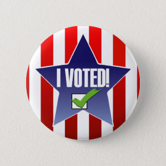 I Voted  Election Pin