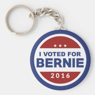 I Voted For Bernie Basic Round Button Key Ring