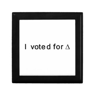 I Voted for Change Small Square Gift Box
