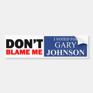 I voted for GARY JOHNSON Bumper Sticker