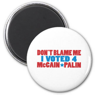 I Voted for McCain Palin 6 Cm Round Magnet