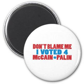 I Voted for McCain Palin Fridge Magnets