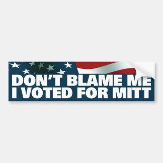 I Voted For Mitt Bumper Sticker