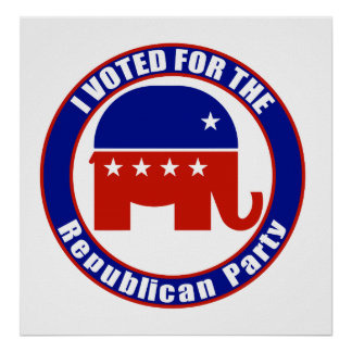 I Voted for Republican the Party Print