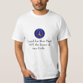 I voted for Ron Paul Shirt