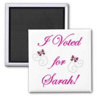 I voted for Sarah Fridge Magnet