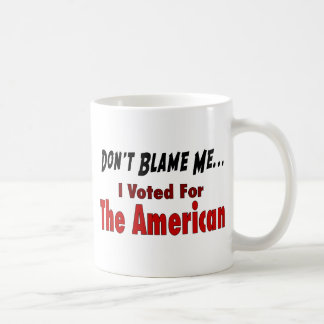 I Voted For The American Coffee Mug