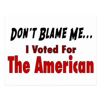 I Voted For The American Post Card