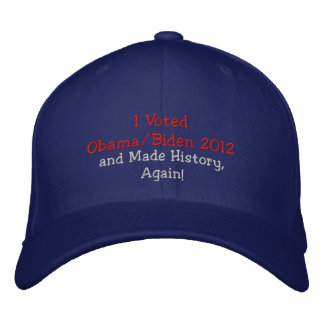 I Voted Obama Biden 2012 and Made History Again Baseball Cap