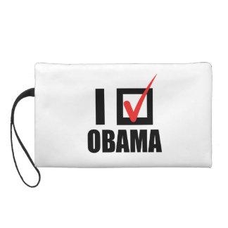 I VOTED OBAMA BW -.png Wristlet