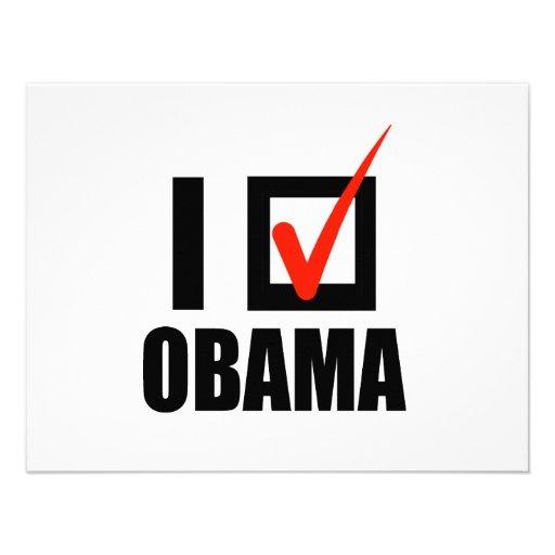 I Voted Obama T-shirt Personalized Invitation