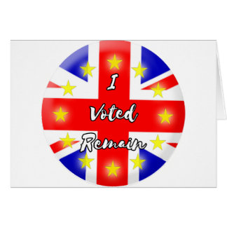 I voted Remain History Card