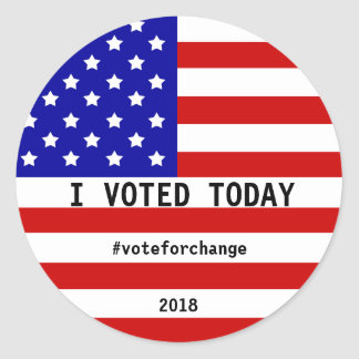 I Voted Today America Flag Election Custom Classic Round Sticker