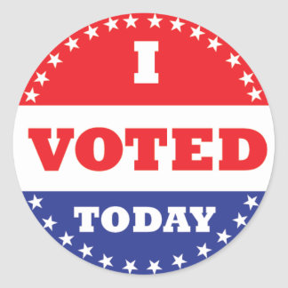 I Voted Today Sticker