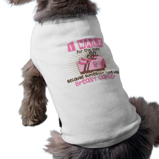 I Walk 1 Breast Cancer Sleeveless Dog Shirt