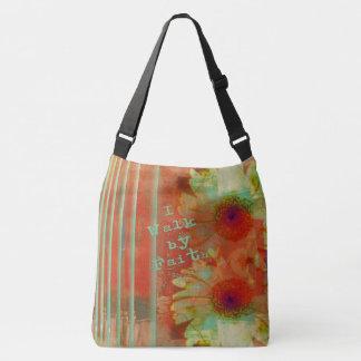 I Walk By Faith Gerber Daisy Christian Crossbody Bag