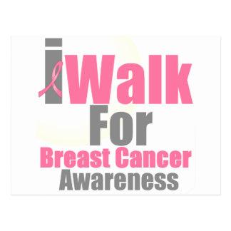 I Walk For Breast Cancer Awareness Postcard